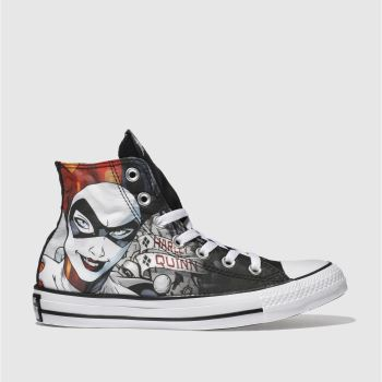 c153d18e8e07 Converse Black   Red All Star Hi Harley Quinn Womens Trainers