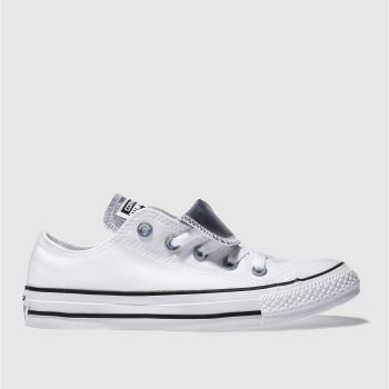 Converse White Double Tongue Iridescent Womens Trainers