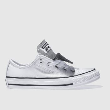 Converse White & Black All Star Double Tongue Ox Womens Trainers