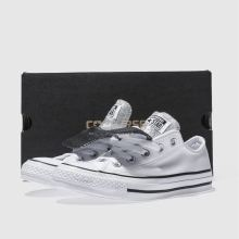 e98b539581502c womens white   black converse all star double tongue ox trainers