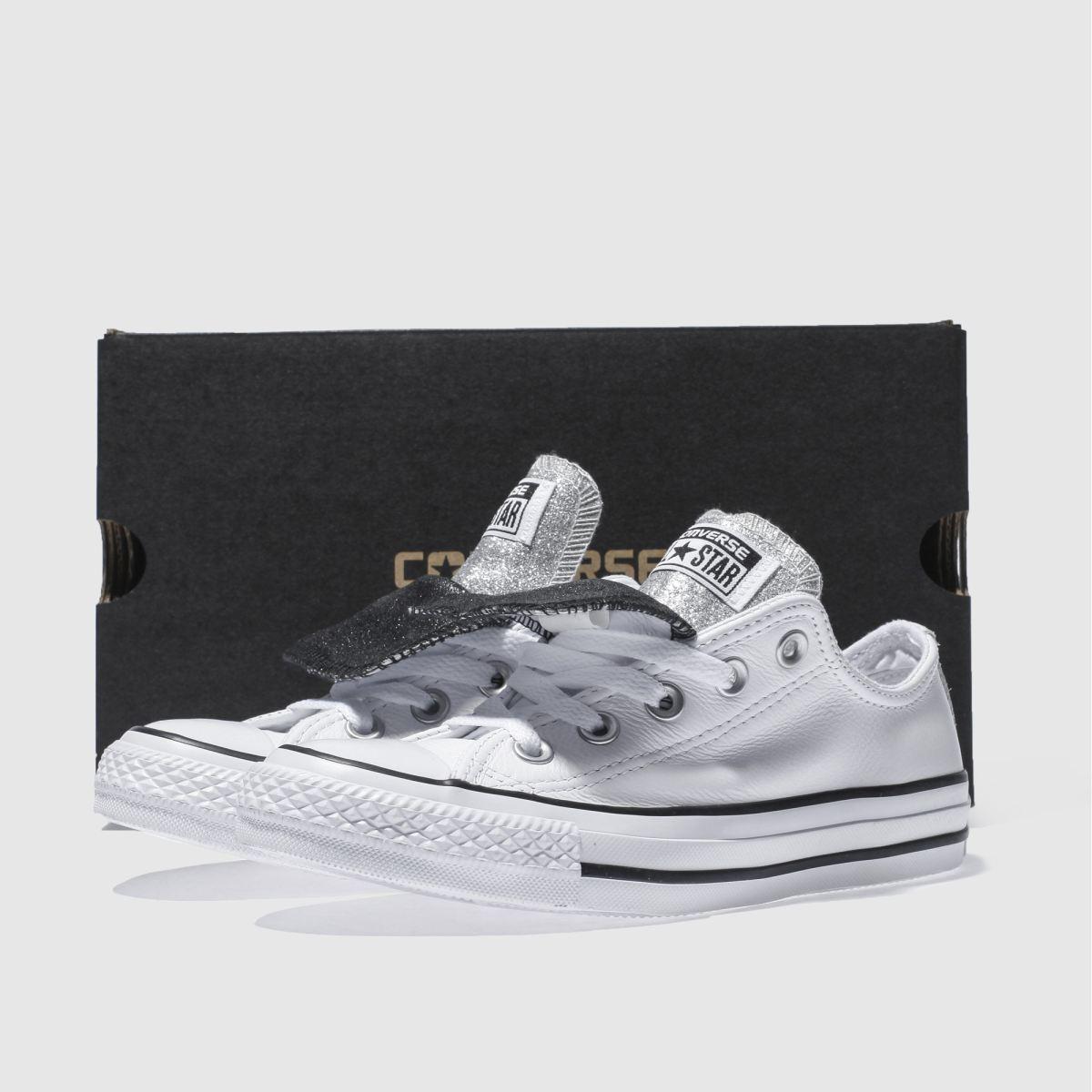 Damen Weiß-schwarz converse Ox All Star Double Tongue Ox converse Sneaker | schuh Gute Qualität beliebte Schuhe e35c21