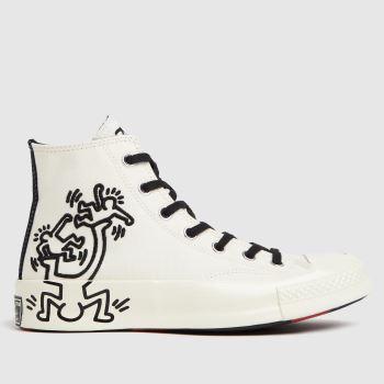 Converse White & Black Chuck 70 Keith Haring Hi Womens Trainers