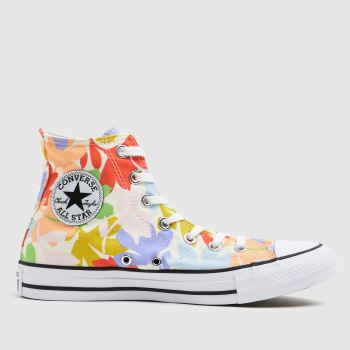 Converse Purple & Pink Star Garden Party Womens Trainers