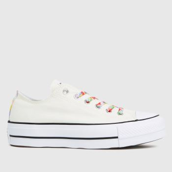Converse Stone Star Garden Party Lift Ox Womens Trainers