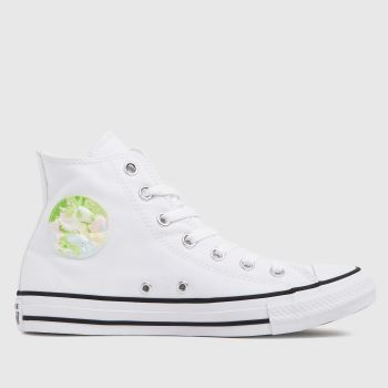 Converse White Summer Fest Patch Hi Womens Trainers