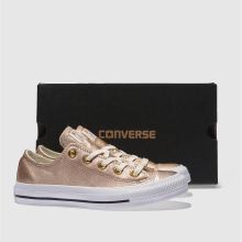 2825613e1fea womens rose gold converse all star metallic leather ox trainers