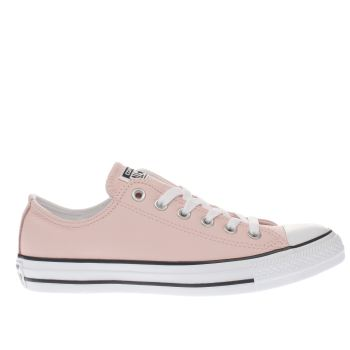 ceb88c1a6842 womens pale pink converse all star leather ox trainers