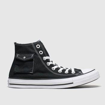 Converse Black & White Hi Pocket Womens Trainers