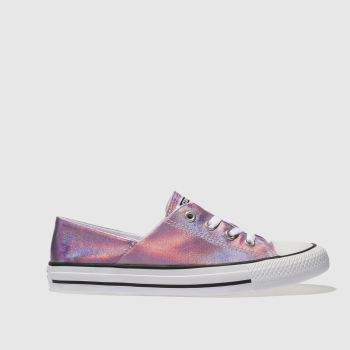 Converse Pink All Star Coral Iridescent Ox Womens Trainers