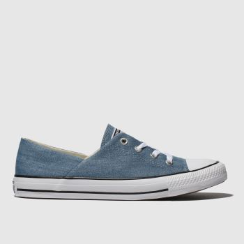 Converse Blue All Star Denim Coral Ox Womens Trainers