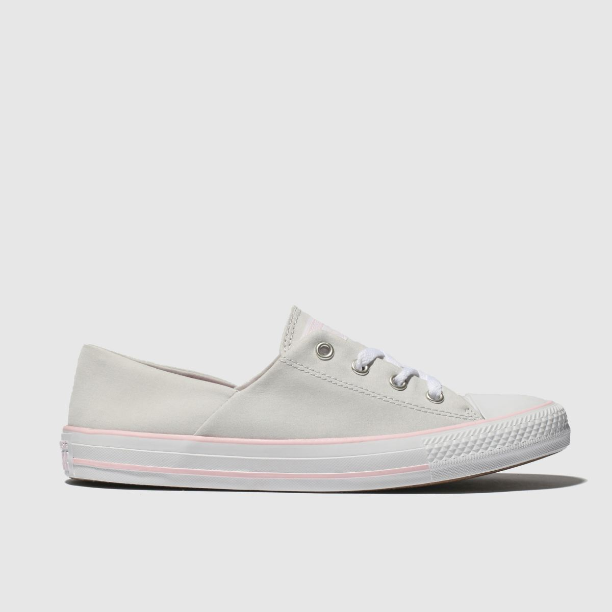 Converse Light Grey All Star Peach Canvas Coral Trainers