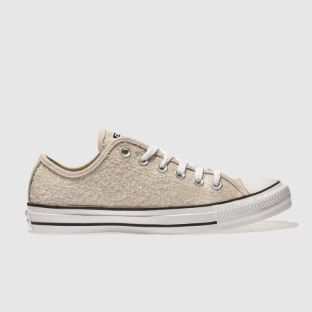 Womens Stone Converse All Star Glitter Ox Trainers Schuh