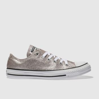 Converse Pale Pink All Star Glitter Ox Womens Trainers