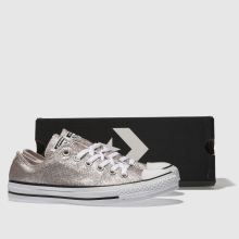 Damen converse Rosa All Star Glitter Ox Sneaker
