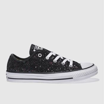 379bbdcf7e75d3 Converse Black   Purple All Star Glitter Ox Womens Trainers