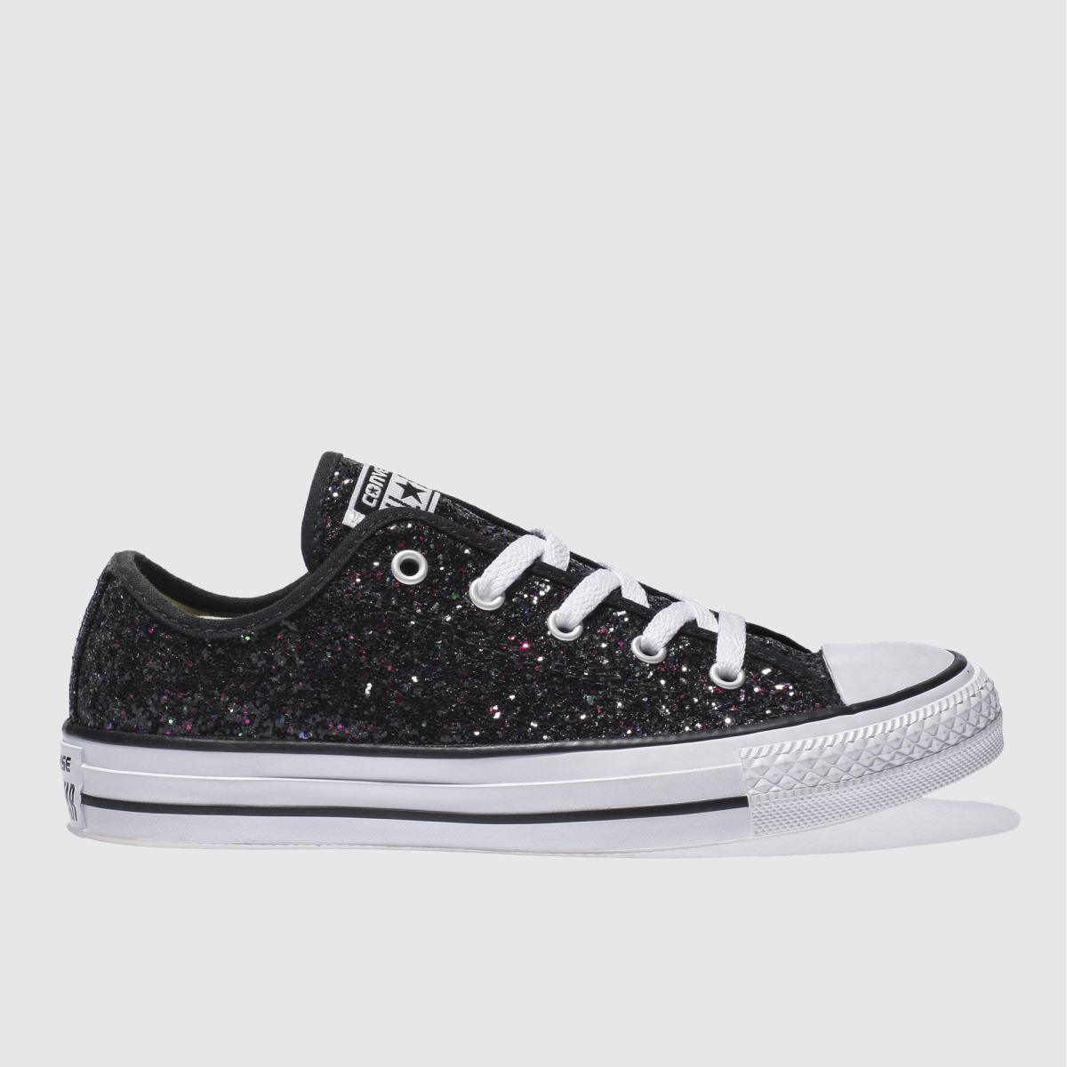 all black glitter converse