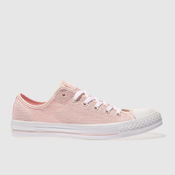 Converse Pale Pink ALL STAR PERFORATED OX Trainers