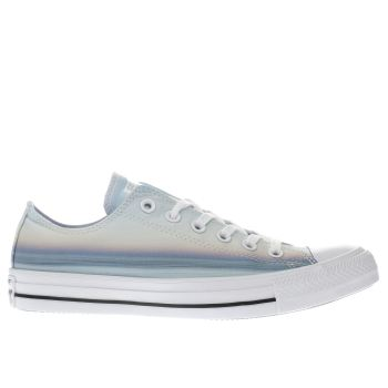 CONVERSE YELLOW & BLUE ALL STAR SUNSET OX TRAINERS