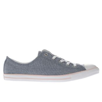 CONVERSE BLUE ALL STAR DAINTY OX TRAINERS