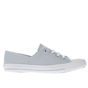 CONVERSE PALE BLUE CORAL MICRO DOT KNIT TRAINERS