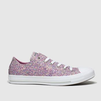 Converse Pink All Star Glitter Ox Damen Sneaker