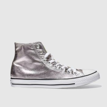 CONVERSE ROSE QUARTZ ALL STAR METALLIC HI TRAINERS