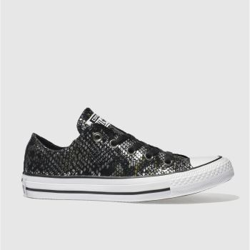 Converse Black All Star Snake Ox Womens Trainers