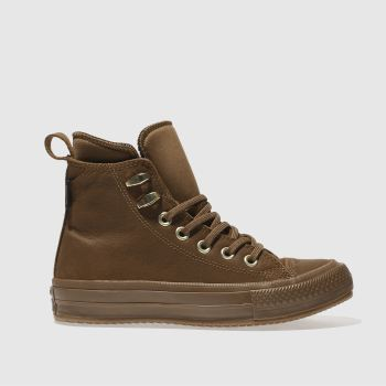 Converse Tan All Star Waterproof Boot Hi Womens Trainers