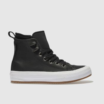 CONVERSE BLACK & WHITE ALL STAR WATERPROOF BOOT HI TRAINERS