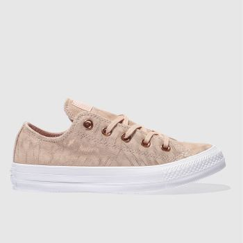 CONVERSE NATURAL CONS CT AS FOIL SUEDE OX TRAINERS