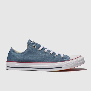 Converse Blue All Star Denim Rainbow Ox Womens Trainers