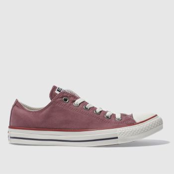 Converse Burgundy All Star Peached Ox Womens Trainers