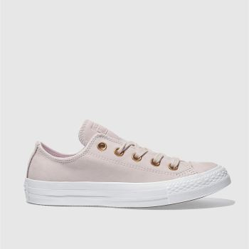 Converse Pale Pink ALL STAR NUBUCK OX Trainers