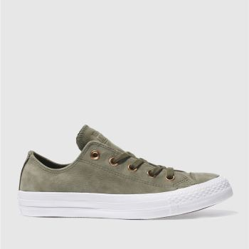 b4379ad96ca6 womens khaki converse all star nubuck ox trainers