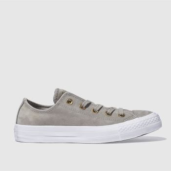 CONVERSE LIGHT GREY ALL STAR NUBUCK OX TRAINERS