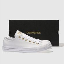 Damen converse Weiß-gold Chuck Taylor All Star Craft Ox Sneaker