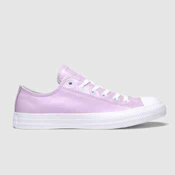 Converse White & Pink All Star Summer Iridescent Ox Womens Trainers