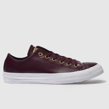 Converse Burgundy Chuck Taylor All Star Craft Ox Womens Trainers