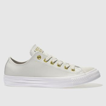 Converse Light Grey Chuck Taylor All Star Craft Ox Womens Trainers