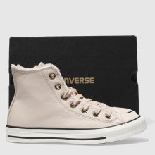Converse leather faux fur lined hi 1