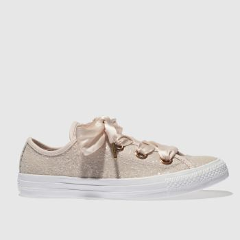 Converse Pale Pink BIG EYELETS GLITTER OX Trainers