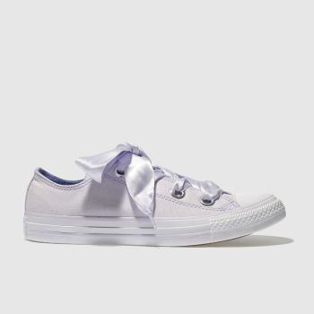 CONVERSE LILAC ALL STAR BIG EYELETS OX TRAINERS