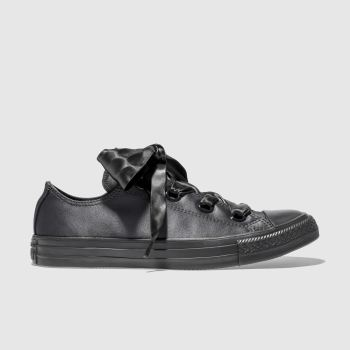 Converse Black All Star Big Eyelets Ox Womens Trainers