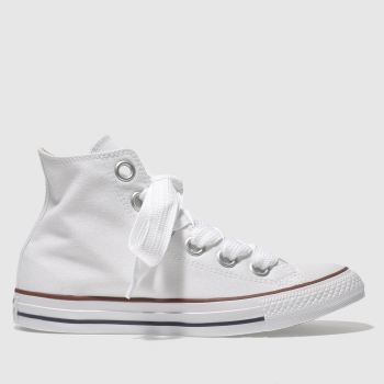 Converse White All Star Big Eyelets Hi Womens Trainers