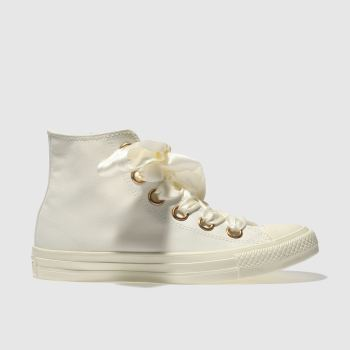Converse Cream All Star Big Eyelets Hi Womens Trainers