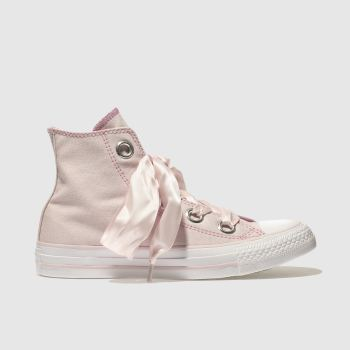 Converse Pale Pink ALL STAR BIG EYELETS HI Trainers