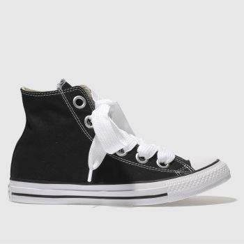 Converse Black All Star Big Eyelets Hi Womens Trainers