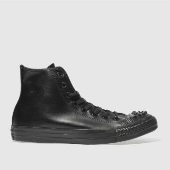 Converse Black Chuck Taylor All Star Studs Hi Womens Trainers