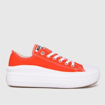 Converse Orange Move Platform Ox Womens Trainers