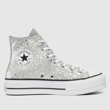 Converse Silver Leopard Print Womens Trainers